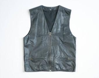VINTAGE - Leather vest