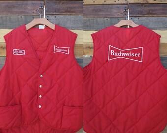 0355 - Vintage Budweiser Vest - X-Large