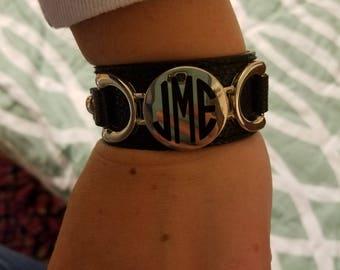 Monogram Cuff Bracelet