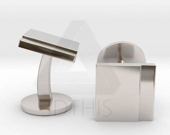 Sterling Silver Square Cufflinks   Modern Cuff Links   Wedding & Grooms Cuff Links   Available Engraved   Silver   Bronze   Gold   Rose Gold