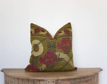 18x18 Vintage Afghan Pillow Cover