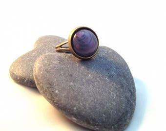 The purple - Bronze Ring