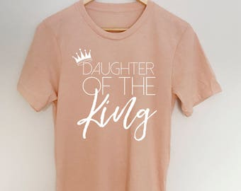 Daughter of the King | heather peach | jersey tee