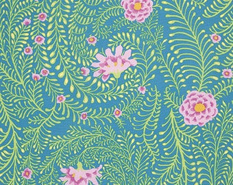 Ferns in Turquoise from the Kaffe Fassett Spring 2015 Collection