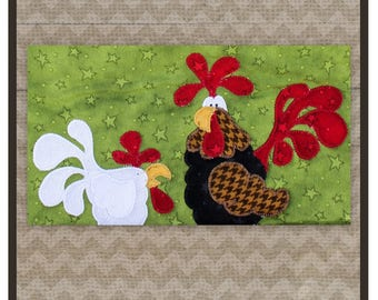 Rooster and Chicken Precut Fused Appliqué Pack from The Whole Country Caboodle