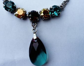 sea and sun swarovski crystal necklace