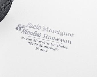 Custom Calligraphy Wedding rubber stamp, rubber stamp, Return adress wedding stamp, Custom Wedding Invitations Stamp, wedding stamp
