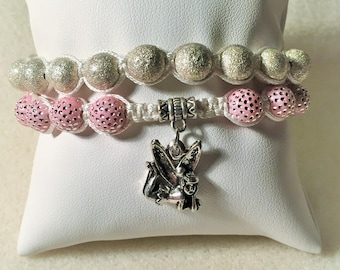 """Bracelet """"Pink and silver fairy"""""""