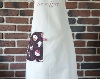 Apron woman muffins Queen linen color