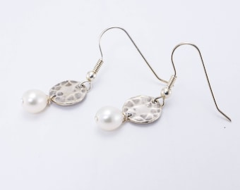 Sterling Silver, Fresh Water Pearl Earrings