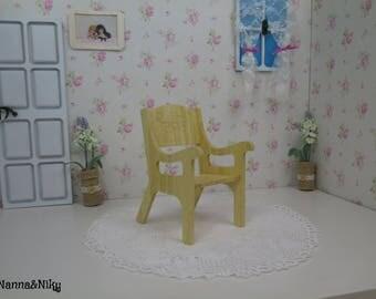 Sedia in bambù per Blythe doll