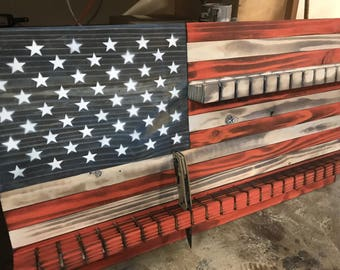 American Flag knife display