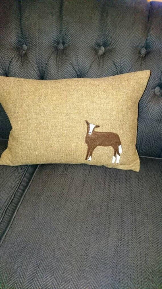Made to order Hand Crafted Harris Tweed sheep cushion cover new