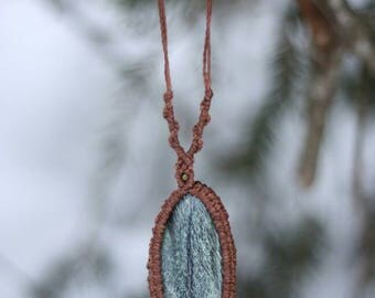 Macrium necklace, macrium jewelry with coiled serpentine (silver eye)