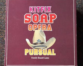 Kitfix Vintage Soap Opera Pursual Family Board Game 1987 with 7 popular TV Soaps