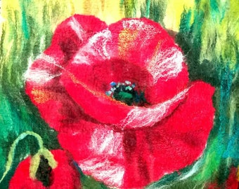 Custom Made Handmade Felted Merino Wool Painting