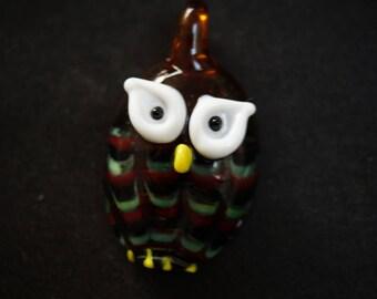 GLASS PENDANT shaped OWL murano style