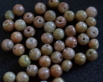 45 H2028 4mm UNAKITE beads