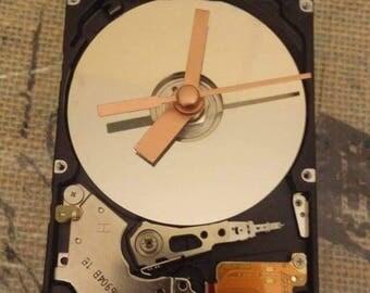 Upcycled Laptop Hard Drive Clock - Computer Part Clock - Clock