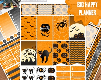 Halloween Planner Stickers Printable, Big Happy Planner Stickers, Weekly Planner Kit, Planner Stickers, Big MAMBI Planner Stickers, Digital