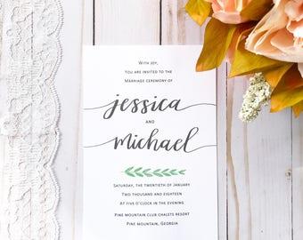 Wedding Invitation- style 2