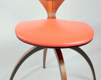 sale rare vintage swivel chair designed by norman cherner for plycraft