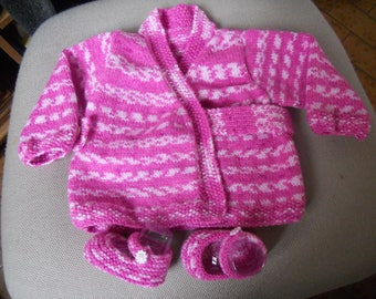 """book Enorine"" jacket or vest baby acrylic yarn """""
