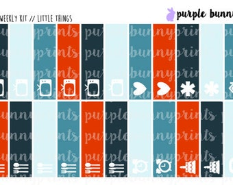 Autumn Plaid Add On // Little Things // Planner Stickers!