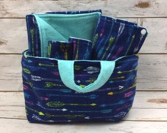 Baby Shower Gift Basket - New Baby Gift - Arrows - Mermaids - Unicorns