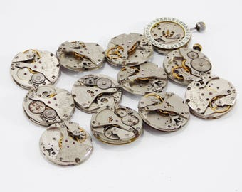 Mens watch altered art steampunk supplies watch movement jewelry findings mechanical clock industrial jewelry craft projects brass charms