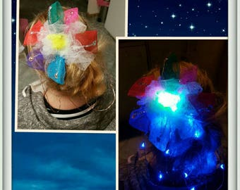 Rainbow LED Hair Clip