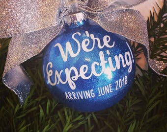 Baby Announcement Ornament, Baby Ornament, Pregnancy Ornament, Expecting Ornament, Christmas Ornament, New Baby Ornament, Pregnancy Gift