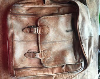 Vintage Leather Backpack Made in Columbia