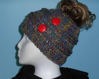 Messy Bun Hat; Pony Tail Hat