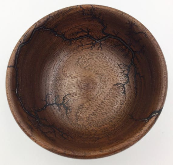 Small Walnut Wood Bowl with Lichtenberg Figures / Catch All