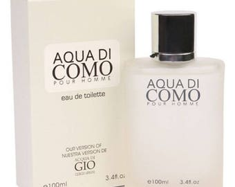 Aqua Di Como perfume Eau de Toilette Parfum Fragrance Spray For Man 3.4OZ  inspired by Acqua Di Gio