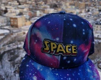 Free (US) Shipping - Outer Space Cap - galaxy allover print