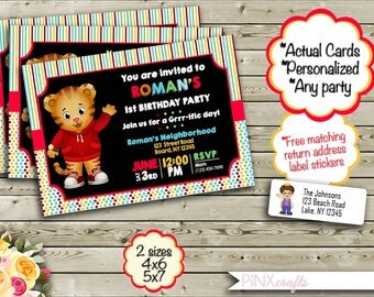 10 Printed Daniel Tiger Invitation with White Envelope ~ Daniel Tiger Birthday Invitation ~ Daniel Tiger Birthday ~ Daniel Tiger Party