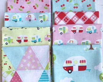 Riley Blake Glamperlicious 100% cotton quilting fabric fat quarter bundle