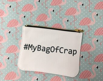 Bag of crap make up bag purse
