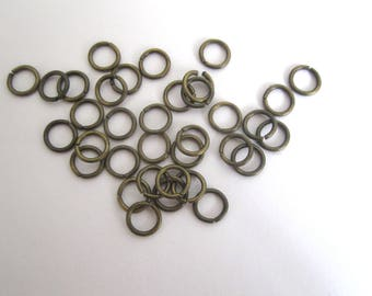 Set of 10 bronze 7mm rings