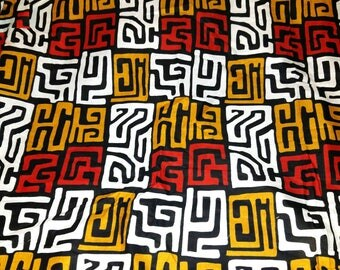 Ankara Fabric by the yard /African fabric/ Ankara fabric/kuba print/Tribal Print Fabric/ African Cloth/ Ankara Wax Print.