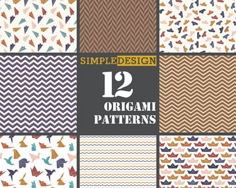 50 OFF SALE!  Origami pattern. Japanese paper. Geometric pattern. Modern digital paper. Geometric digital. Geometric paper. Modern paper.