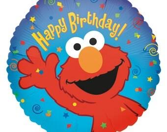 Elmo Birthday Balloons, Sesame Street Party Balloons, Elmo Birthday Decorations, Elmo Foil Mylar Balloons