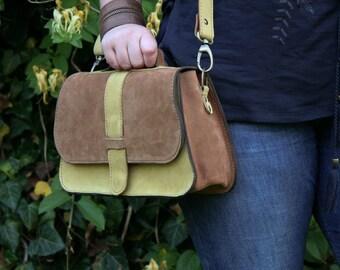 Handmade Leather Saddle bag / Leather Shoulder Bag / Leather Satchel / Leather Purse / Womens handbag / Classic saddlebag / Beige handbag