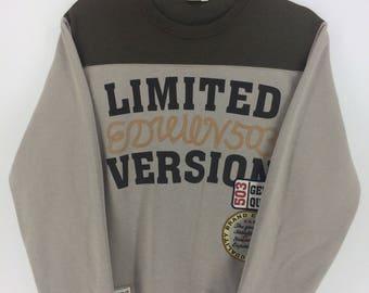 Vintage 90's Edwin Limited Version Sport Classic Design Skate Sweat Shirt Sweater Varsity Jacket Size L #A854