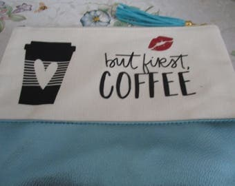 makeup bag-white-canvas bag-travel cosmetic bag-travel pouch-wedding day makeup-cosmetic wristlet--cosmetic canvas bag-canvas makeup bag