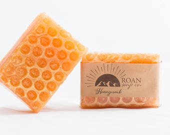 Honeycomb Bar Soap-Melt and Pour Soap-Bar Soap-Glycerin Soap-Honey Oatmeal