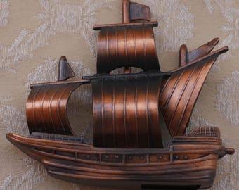 Novelty Sharpener, Tall Ship, Pencil Sharpener, Die Cast Metal, Vintage Desk Decor, Writing Accessories, Sailing Ship Gift, Made In Spain