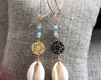 Cori and Amazonite earrings